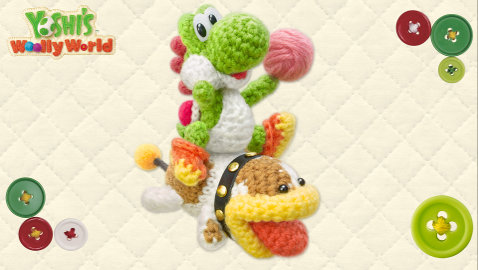 Poochy et Yoshi's Woolly World sur 3DS